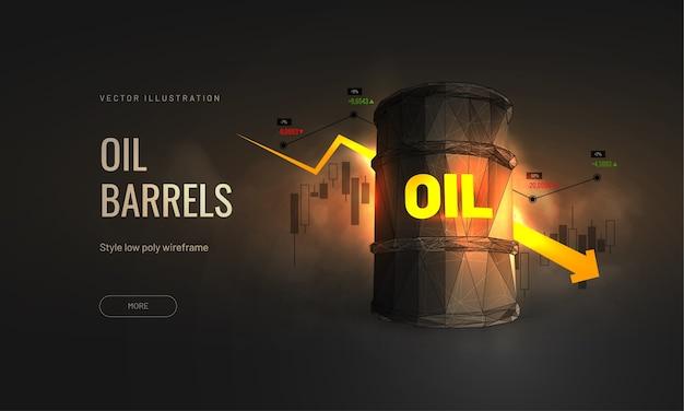 Koszt ropy na giełdzie - wykres spowolnienia wzrostu przemysłu naftowego