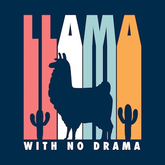 Koszula typograficzna z lamą