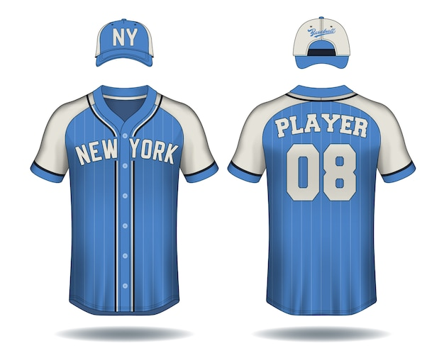 Koszulka baseballowa makiety.