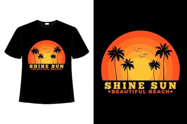 Koszulka beach shine sun beautiful sky