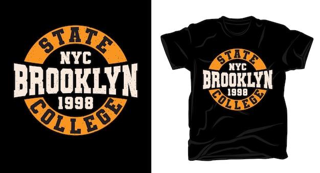 Koszulka brooklyn varsity typography design
