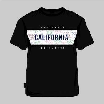 Koszulka california z pełnym nadrukiem w tle