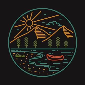Koszulka camg natura dzika odznaka szpilka ilustracja
