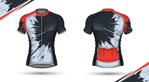 Koszulka kolarska, przód i tył
