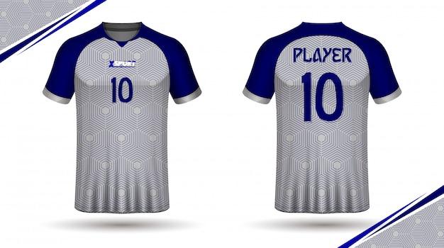 Koszulka koszulki piłkarskiej z tyłu iz przodu