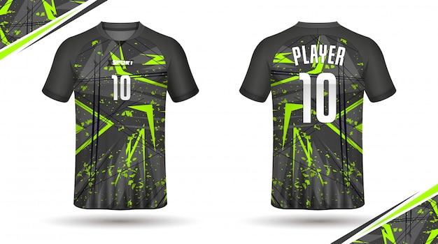 Koszulka koszulki sportowo-sportowej z koszulką piłkarską