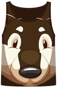 Koszulka na ramiączkach z motywem shiba dog