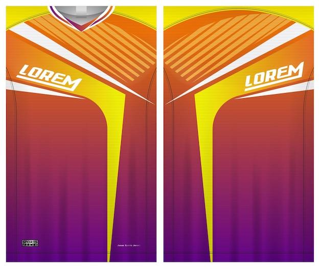 Koszulka piłkarska koszulka sportowa szablon jednolity przód i tył