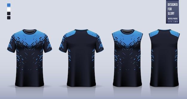 Koszulka piłkarska lub szablon makiety zestawu piłkarskiego koszulka na koszulkę do koszykówki lub do biegania