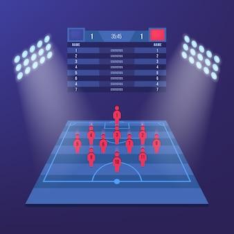 Koszulka Piłkarska Lub Zestaw Piłkarski Premium Wektorów