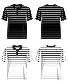 Koszulka polo szablon w paski