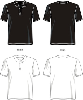 Koszulka polo szablon