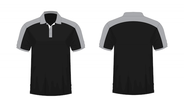 Koszulka polo szary i czarny t ilustracji