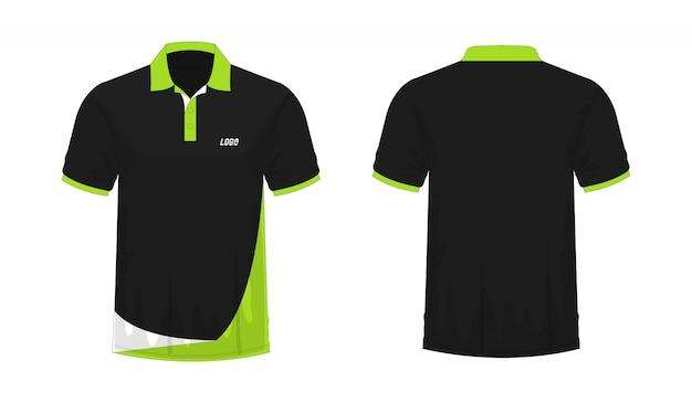 Koszulka polo zielona i czarna t ilustracja