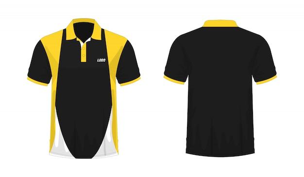 Koszulka polo żółta i czarna t ilustracja