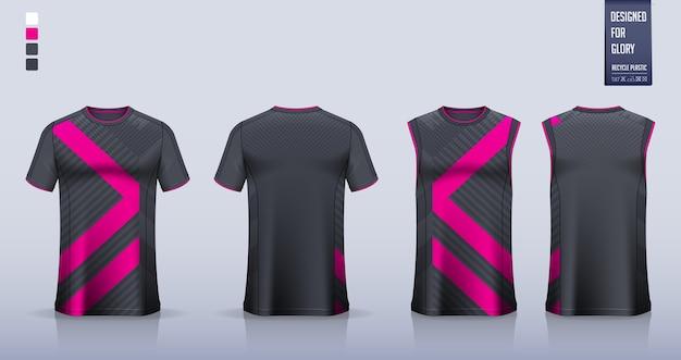 Koszulka, projekt szablonu koszulki sportowej na koszulkę piłkarską, strój piłkarski. tank top na koszulkę do koszykówki lub podkoszulek do biegania.