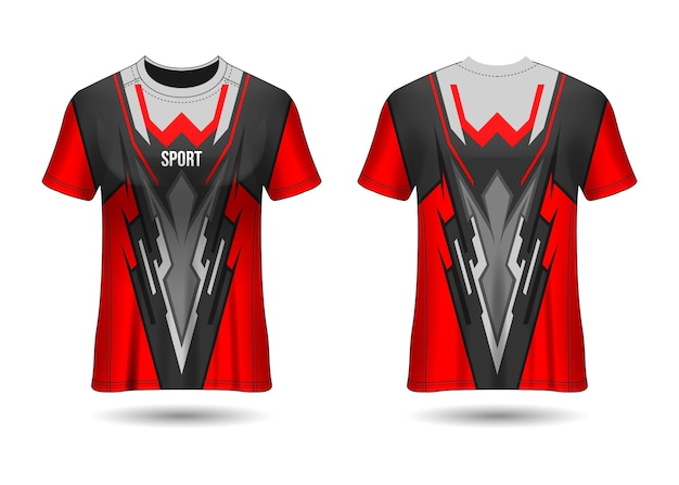 Koszulka sport jersey szablon projekt