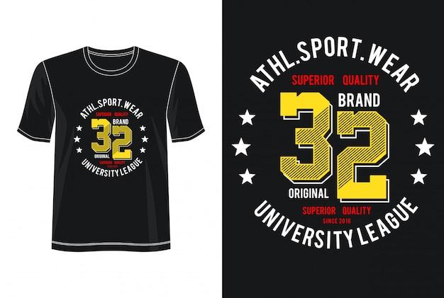 Koszulka sportowa 32 typografia