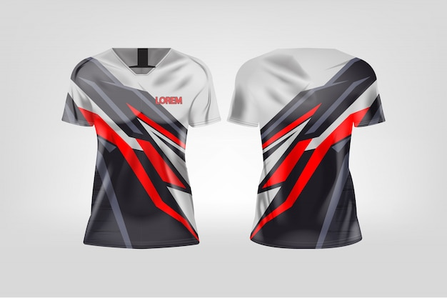 Koszulka sportowa dla kobiet, koszulka piłkarska dla klubu piłkarskiego.