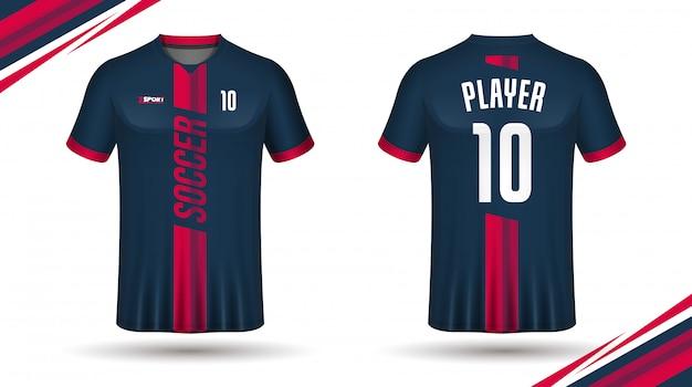 Koszulka sportowa szablon koszulki piłkarskie