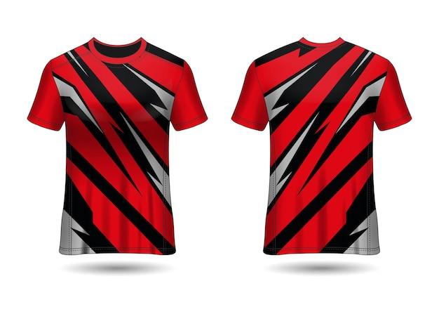 Koszulka sportowa tshirt sport design do jednolitego widoku klubowego z przodu iz tyłu