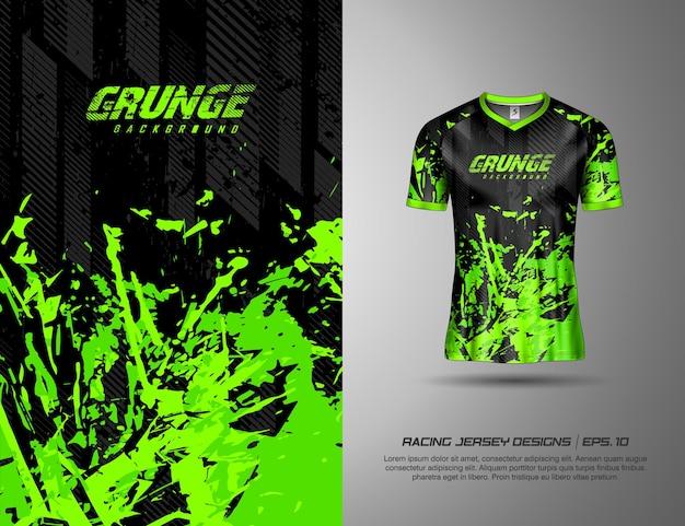 Koszulka sportowa w stylu grunge z farbą do wyścigów na koszulce kolarskiej na rowerze w piłce nożnej