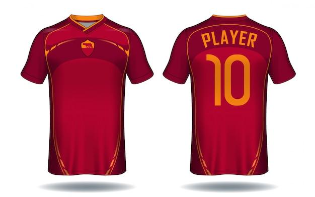Koszulka sportowa z jerseyu piłkarskiego.
