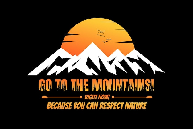 Koszulka sylwetka góra zachód słońca sosna piękna przyroda