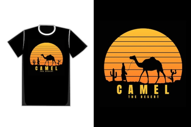 Koszulka sylwetka wielbłąd deser natura