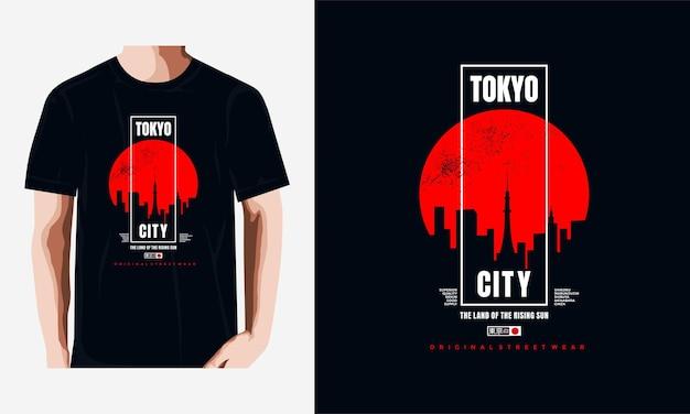 Koszulka tokyo i projekt odzieży premium