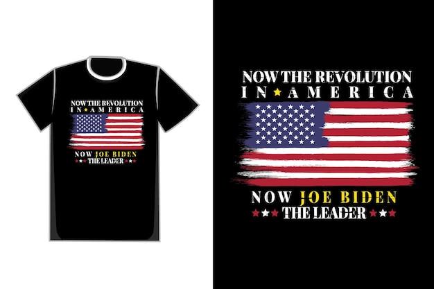 Koszulka typografia flaga amerykańska szczotka gwiazda