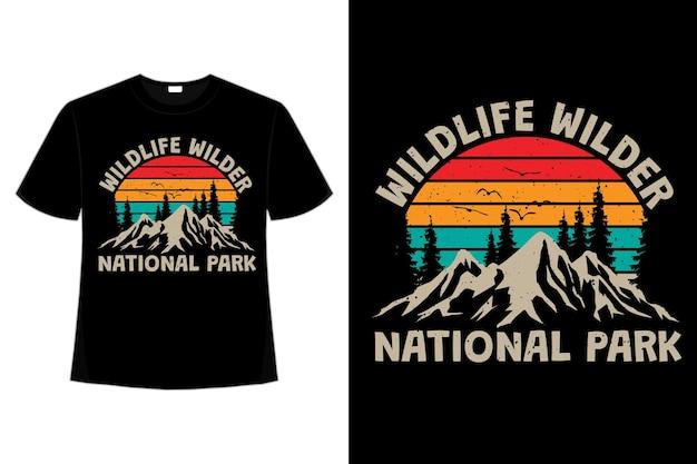 Koszulka wilder nation park mountain retro vintage style