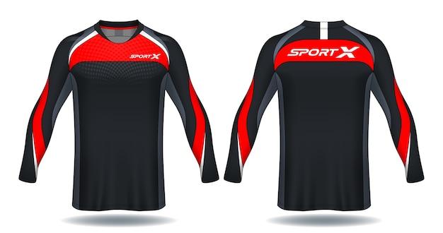 Koszulka z długim rękawem jersey template.sport.