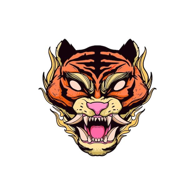 Koszulka z motywem głowy tygrysa