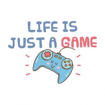 Koszulka z motywem kawaii gier wideo