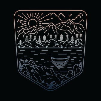Koszulka z motywem nature mountain