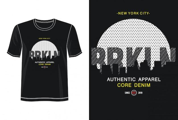 Koszulka z nadrukiem new york city typography