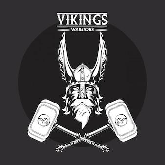 Koszulka z nadrukiem wojowników wikingów