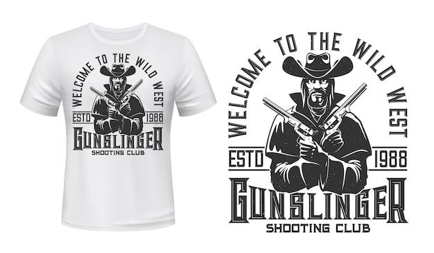 Koszulka z postacią gangstera lub bandyty