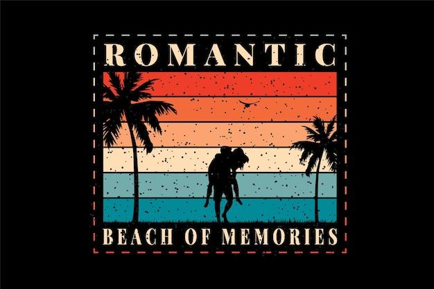 Koszulka z sylwetką wspomnień na plaży