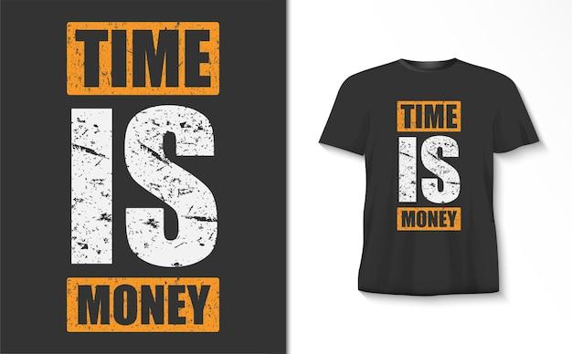 Koszulka z typografią czas to pieniądz