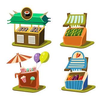 Koszyk stall food