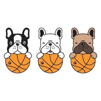 Koszykówka buldog francuski pies