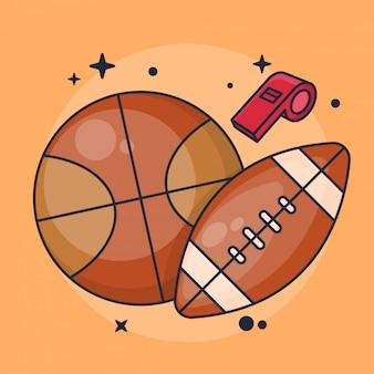 Koszykówka i futbol amerykański z gwizdkiem