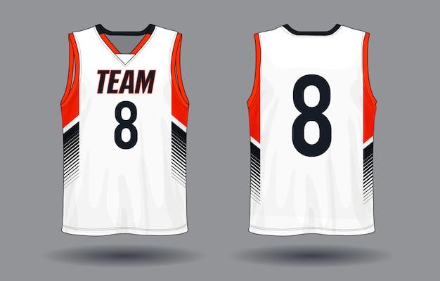 Koszykówka jersey, podkoszulek bez rękawów sport ilustracja.