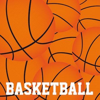 Koszykówka piłki tło wektor illutration bliska