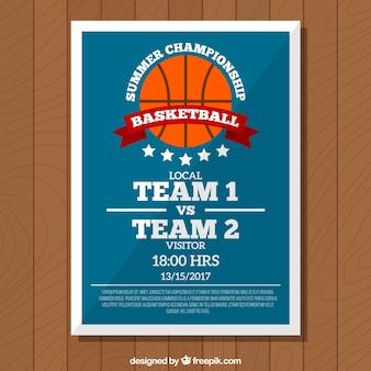 Koszykówka retro broszura