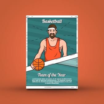 Koszykówka szablon plakat