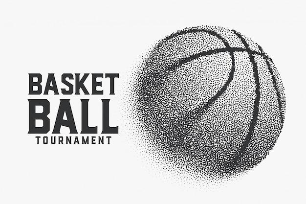 Koszykówka wykonana w tle kreatywnych małych kropek