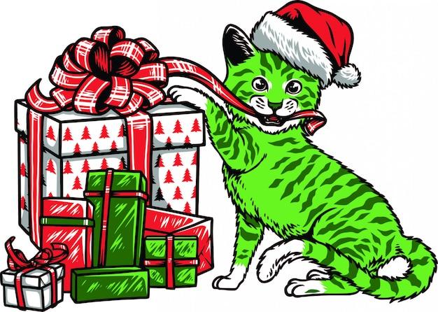 Kot bożonarodzeniowy